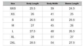 Varsity Jacket Size Chart Lp008 Monsterhearts Gaze Into The Abyss