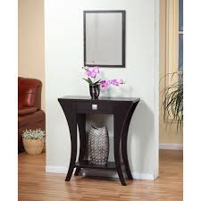 entryway tables and consoles. Cappuccino Finish Console Sofa Entry Table With Drawer Entryway Tables And Consoles