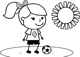 Small Picture Girl Soccer Player Outline Coloring Coloring Pages