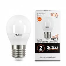 <b>Лампа Gauss LED</b> Elementary Globe 10W E27 3000K 1/10/100 ...
