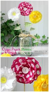 Make Crepe Paper Flower How To Make Crepe Paper Flowers