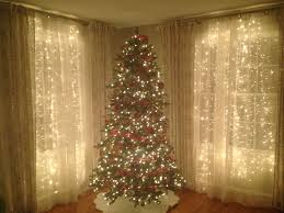 Little White Christmas Lights Icicle Lights Behind Sheer Curtains Beautiful For A Party