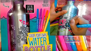 Your Decor Water Bottle Color Your Own Water Bottle Your Decor DIY Clips onto your 2