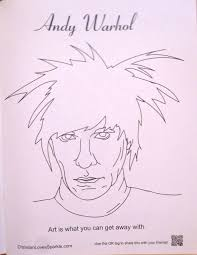 Andy Warhol Soup Can Coloring Page Queenandfatchefcom
