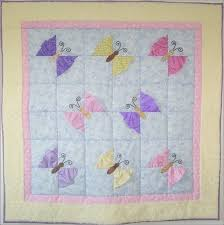 little girl quilt patterns   quilt is covered with butterflies ... & little girl quilt patterns   quilt is covered with butterflies that seem to  be flying on Adamdwight.com