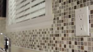 How To Install Kitchen Tile Rona How To Install Mosaic Tiles Youtube