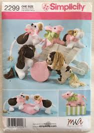 Design A Stuffed Animal Free Online Simplicity Pattern 2299 Stuffed Animals Cow Pony And