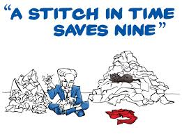 ideas in action digital tab a stitch in time saves nine  a stitch in time saves nine