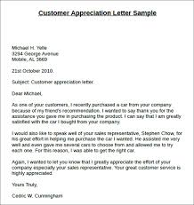 customer appreciation thank you letters 15 thank you letters free sample formats creative template