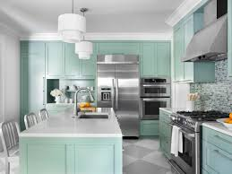 colors to paint kitchen cabinetsGreen Color Ideas For Painting Kitchen Cabinets With White Lamps
