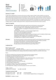 Office Administrator resume 3 ...