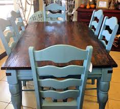 stunning french country farmhouse table transformation by jenny from rustic roots she used halcyon blue