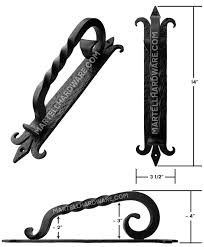 agave ironworks pu030 wrought iron door pull handle spanish coat of arms