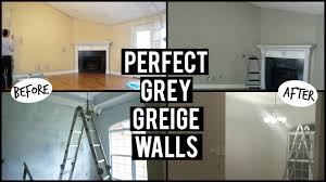 gray wall paintV Painted walls Perfect Grey Before  After bunk bed  YouTube