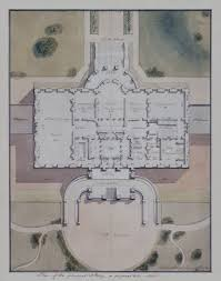west wing office space layout circa 1990. Principal Story Plan For The White House By Benjamin Henry Latrobe, 1807. West Wing Office Space Layout Circa 1990