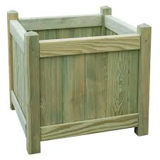Square Wooden Planter (H)450mm (L)450mm | Departments | DIY at B&Q.