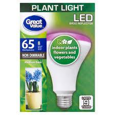 Horticultural Led Grow Lights Walmart Great Value Led Br30 Reflector Plant Light 8 Watts Medium