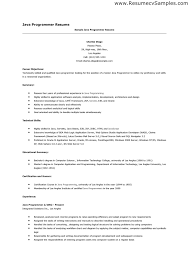 java experience resume sample resume ideas
