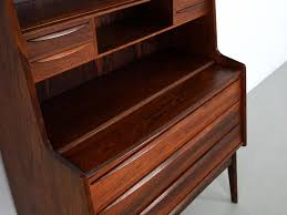 vintage danish rosewood secretary desk with pullout surface