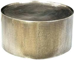 round drum coffee table brass drum table wonderful brass drum coffee table hammered steel urban fusion round drum coffee table