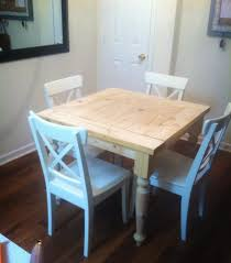 White Square Kitchen Table Ana White Square Turned Leg Farmhouse Kitchen Table Diy Projects