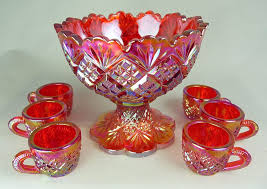 contemporary carnival punch set thistlewoods net carnival glass website s and other