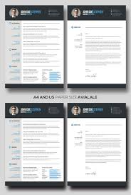 Free Ms Word Resume And Cv Template Design Reso Myenvoc