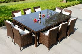 Dining Room Table For 10 Dining Room Tables That Seat 12 Oxford 10 Seater Wicker Rattan