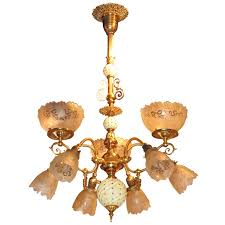 antique victorian gas electric chandelier for