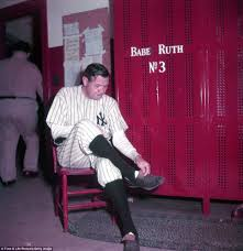 Small Picture Extremely rare colour pictures of Babe Ruth show the Bronx Bomber