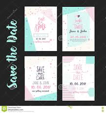 Party Rsvp Template Geometry Save The Date Card In Modern 1980s With Menu Rsvp