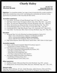 Journalist Resume Resume Template Paasprovider Com