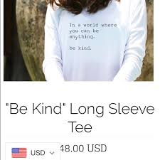 Gray M Be Kind T-shirt Cotton cbeeeefdcfbdcfdcfa|