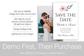 Save The Date Upload Your Own Design Save The Date Template Photo Wedding Printable Bridal