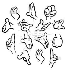 Cartoon Hands Gesture Collection Cartoon In 2019 Cartoon