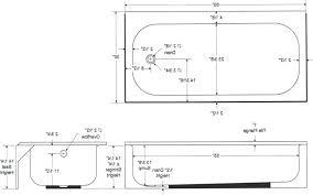 standard bath length length of a standard bathtub standard bathtub size india