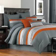 Orange And Gray Bedding Set Orange And Grey Duvet Cover Orange