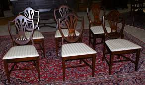 set of six gany shield back dining room chairs with regard to antique dining room chairs