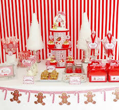 Candy Cane Theme Decorations Christmas Candy Cane Dessert Table Christmas Party Ideas For 92