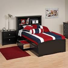 Black Twin Platform Storage Bed with Drawers - BBT-4100-2K