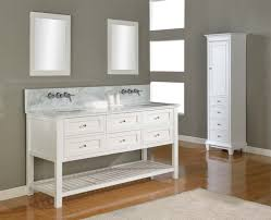 White Floor Bathroom Cabinet Carrera Marble Bathrooms Carrara Marble Bathroom Floor Tile