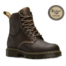 dr martens crofton mens leather 7 tie boots tan brown
