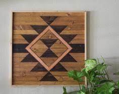 reclaimed wood wall art southwestern art by roamingrootswoodwork on southwestern wood wall art with reclaimed wood wall art wooden wall art geometric wood art