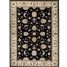 bazaar fl heirloom black ivory 8 ft x 10 ft indoor area rug