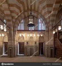 Marmorwand Mit Mihrab Nische Embedded Zwei Holztüren Große