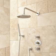 callas thermostatic shower system brushed nickel