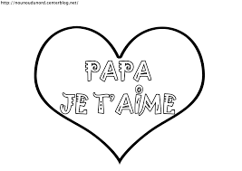 Coloriage Coeur Je T Aime Papa