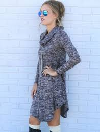 Winter Dress Long Sleeve Women Casual Sweater Dresses