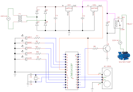 Automatic Control Complete Circuit Diagram Of The Microcontroller Based