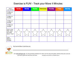 61 Reasonable Daily Physical Activity Chart